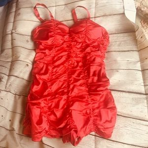 Pinup girl one piece bathing suit red size 4X